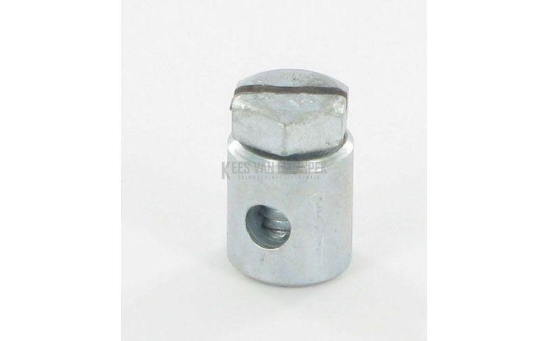 Schroefnippel 3,5 mm, ton 9x10 mm